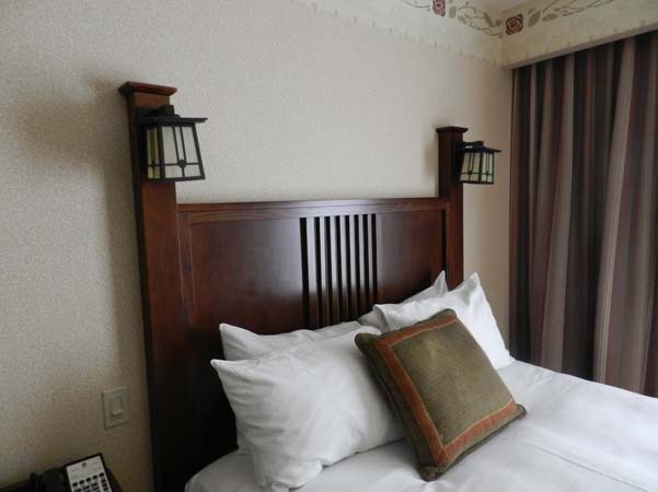 Grand Californian Hotel Room Headboard Details