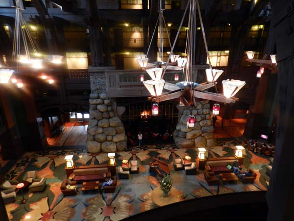 Grand Californian Hotel Lobby from the 2nd floor