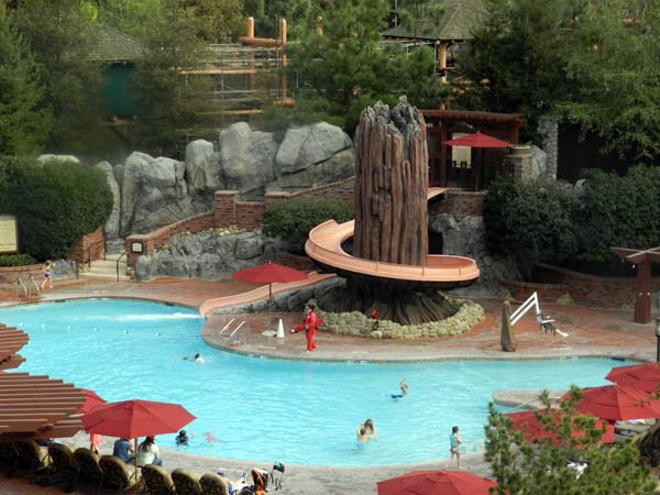 Grand Californian Hotel Pool Waterslide