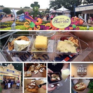 A collage of pictures from the Epcot International Food & Wine Festival 2014