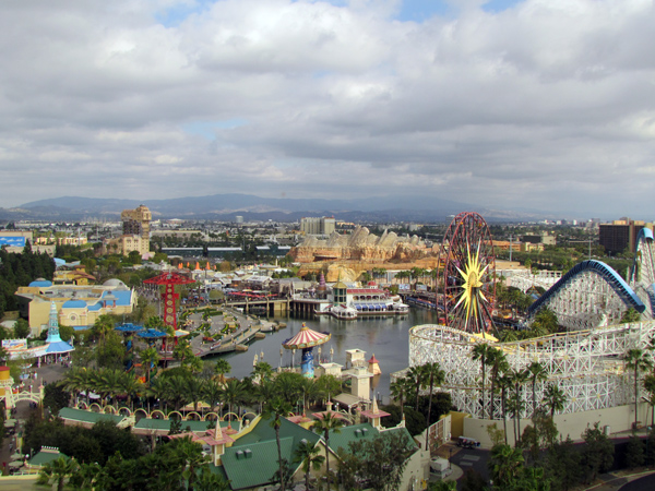 View from Paradise Pier hotel room