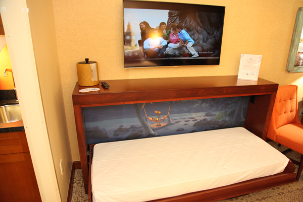 Polynesian DVC Villas Deluxe Studio Room Pull Down Bed