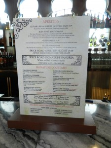 Spice Road Table Bar Menu