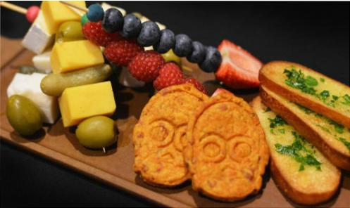 Rebel Hangar Food - Fruit and Cheese Sabers