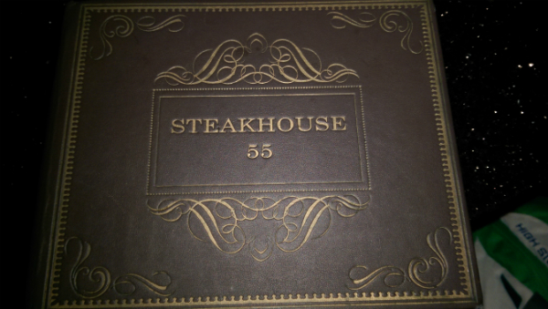 Steakhouse 55 Lounge Menu Cover