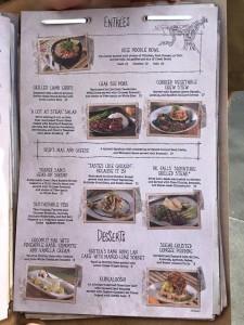 Jungle Skipper Canteen restaurant menu
