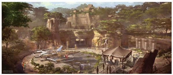 Star Wars Land Concept Art 1