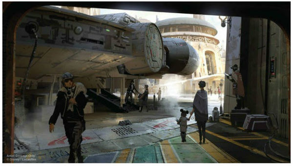 Star Wars Land Concept Art 2