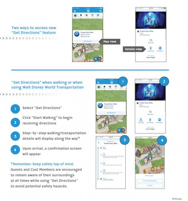 Get Directions on the My Disney Experience mobile app