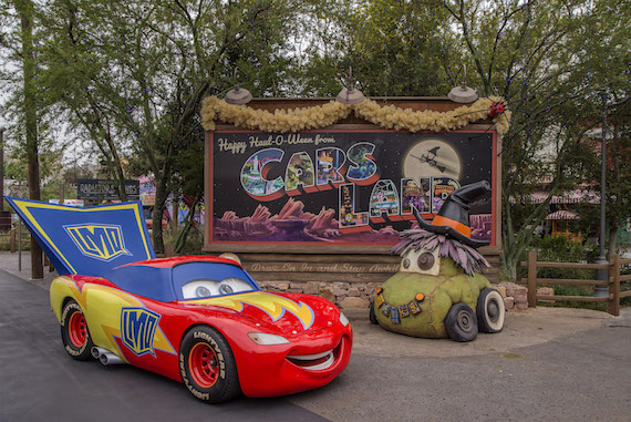 Cars Characters In Car Stume During Halloween Time At Disneyland