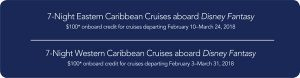 Disney Cruise Onboard Credit Eligible Sailing Dates