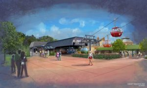 Disney Skyliner Epcot Station Concept Art