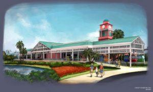 Disney Skyliner Caribbean Beach Station Concept Art