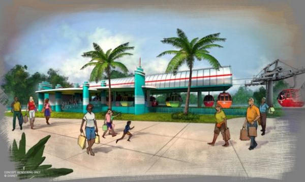 Disney Skyliner Hollywood Studios Station Concept Art