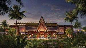 Concept Art for new Polynesian Village Resort Entry